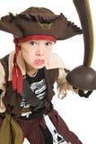 可爱的男孩服装海盗 免版税库存照片