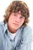 可爱的男孩老十六青少年的年 库存照片