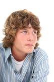 可爱的男孩老十六青少年的年 图库摄影