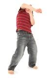 可爱的男孩跳舞 库存图片