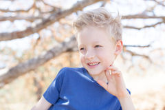 可爱的男孩 免版税图库摄影