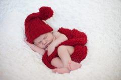 可爱的男婴,睡觉 免版税图库摄影
