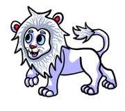 可爱的白变种狮子 皇族释放例证