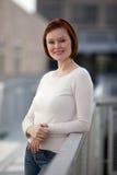 可爱的白种人丹麦二十妇女 免版税库存图片