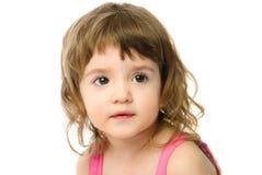 可爱的白种人女孩老一年 免版税库存照片