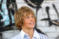 可爱的白肤金发的男孩 库存图片