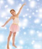 可爱的矮小的芭蕾舞女演员 图库摄影