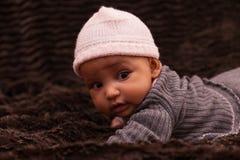 可爱的矮小的非裔美国人的女婴 库存图片