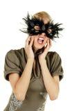 可爱的秀丽金发碧眼的女人 免版税库存图片