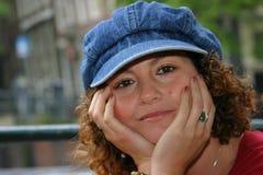 可爱的突尼斯妇女 免版税库存照片