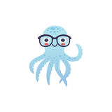 可爱的章鱼字符 库存照片