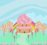 可爱的糖果房子 皇族释放例证
