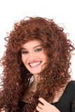 可爱的红头发人微笑 免版税库存照片