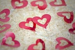 可爱的红色心脏 库存图片