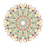 可爱的花-花饰witn圈子设计 皇族释放例证