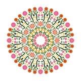 可爱的花-花饰witn圈子设计 向量例证