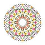 可爱的花-花饰witn圈子设计 库存例证