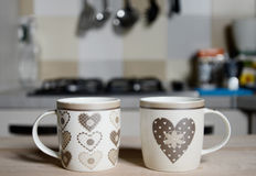 可爱的葡萄酒咖啡杯 库存图片