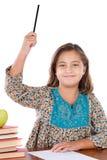 可爱的要求的女孩告诉学员 库存照片