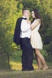 可爱的订婚夫妇 免版税库存图片