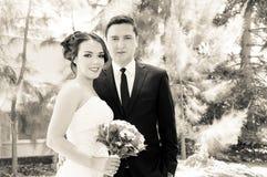 可爱的订婚夫妇 免版税库存照片