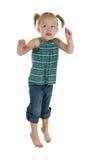 可爱的跳的小孩 免版税库存图片
