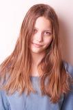 可爱的逗人喜爱的青少年的女孩 免版税库存图片