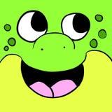 可爱的青蛙背景 皇族释放例证