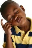 可爱的非洲裔美国人的男孩 免版税库存照片