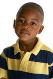可爱的非洲裔美国人的男孩 免版税库存图片