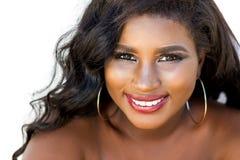 可爱的非洲青少年的女孩秀丽画象  库存照片
