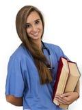 可爱的年轻女性护士 免版税库存图片