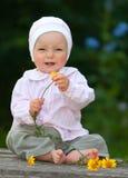 可爱的婴孩一年 免版税图库摄影
