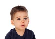 可爱的婴孩九个月 免版税库存图片