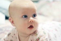 可爱的婴孩纵向 免版税图库摄影