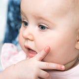 可爱的婴孩画象  免版税图库摄影