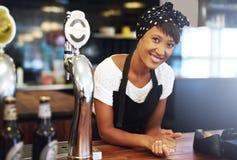 可爱的年轻小企业主 免版税图库摄影