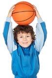 可爱篮球儿童使用 库存图片