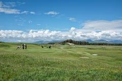 可爱路线的高尔夫球 免版税库存照片