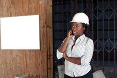 可爱1个admin建筑的女性 库存图片