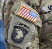 维可牢尼龙搭扣补丁- 101st空降师 免版税库存图片