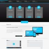 可用两eps8格式化jpeg模板网站 也corel凹道例证向量 免版税图库摄影