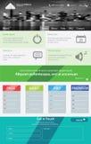可用两eps8格式化jpeg模板网站 免版税库存图片