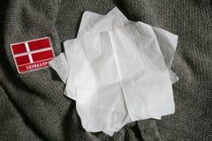 可用的丹麦标志玻璃样式向量 免版税库存照片