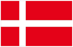 可用的丹麦标志玻璃样式向量 库存例证