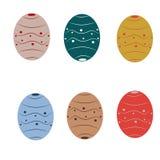 可用的五颜六色的复活节彩蛋被设置的向量 皇族释放例证