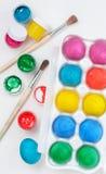 可用的五颜六色的复活节彩蛋被设置的向量 库存照片