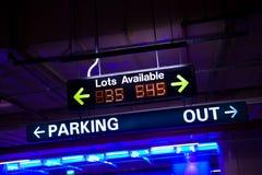 可用的停车 免版税库存图片