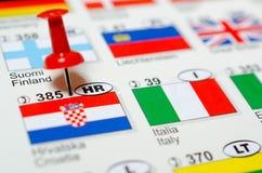 可用的克罗地亚标志玻璃样式向量 免版税图库摄影