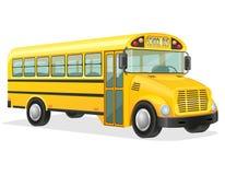可用的公共汽车eps例证学校版本 图库摄影